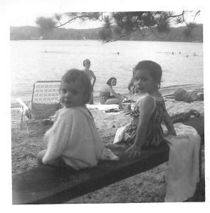 MaryBeth & Debbie (Me) at Newfound Lake, Wellington State Park