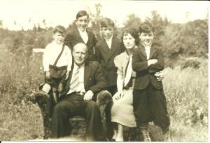 La Valley Family Portrait - Dad is the little guy :)