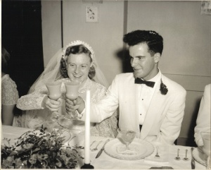 Betty & Tom 7/14/1956