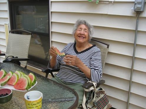 Nana enjoying a day with family