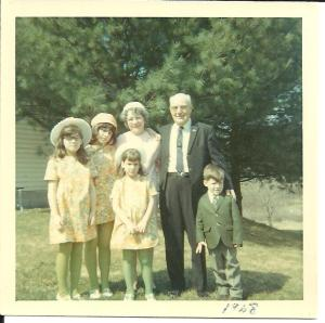 1968 Easter w/ Grammy & Pepe