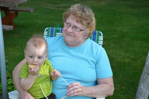 Great Grandma & Jaxon
