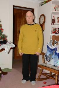 Dad in Star Trek PJs