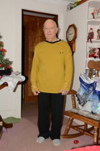 Dad in Star Trek PJs